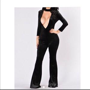 Velvet Ribbed Jumpsuit